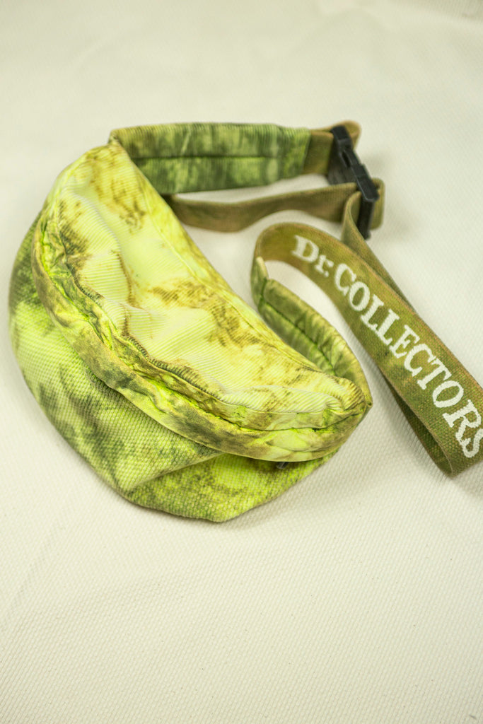 Banana Bag in Neon Green Tie-Dye