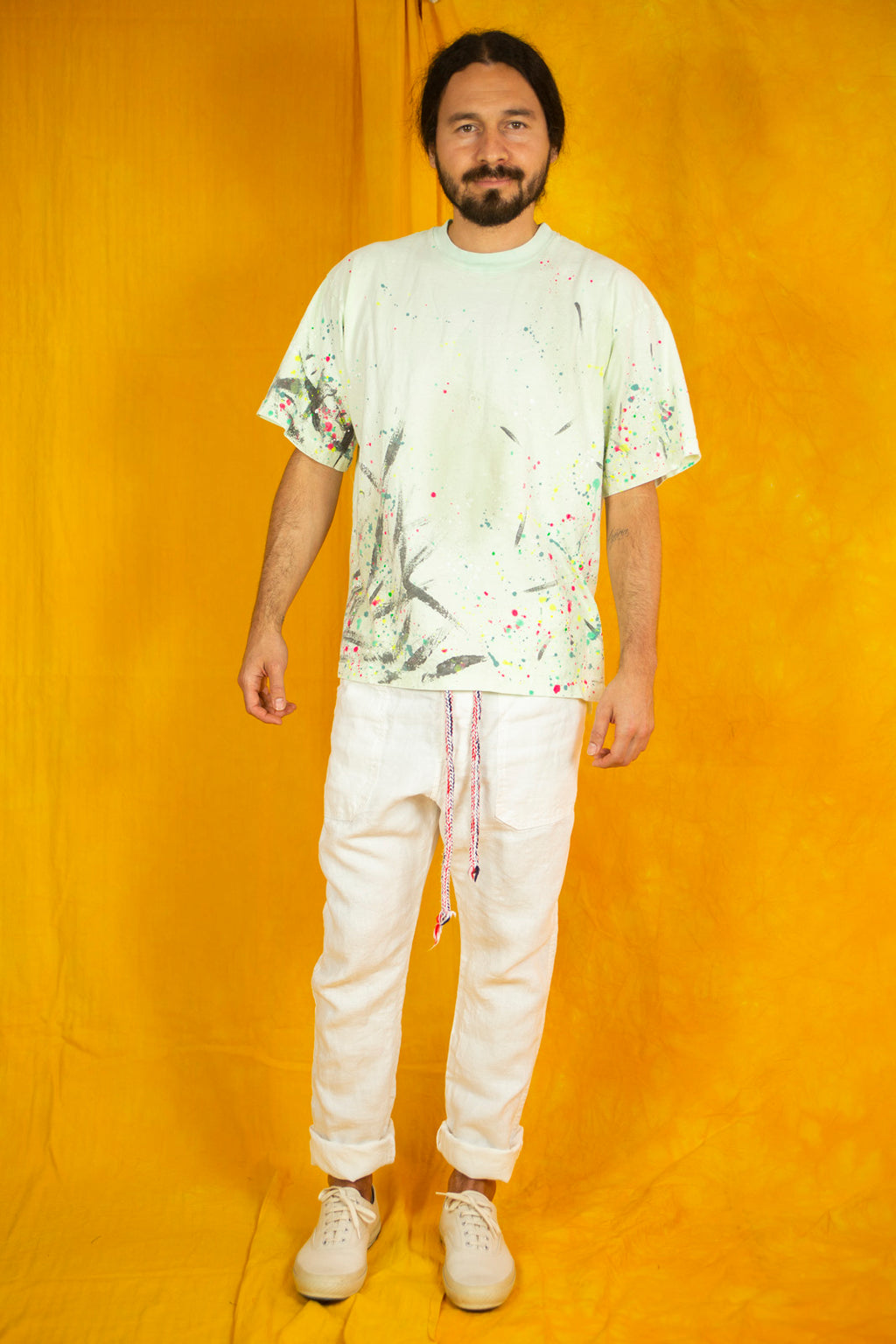 Classic T-shirt in Paint Splatter