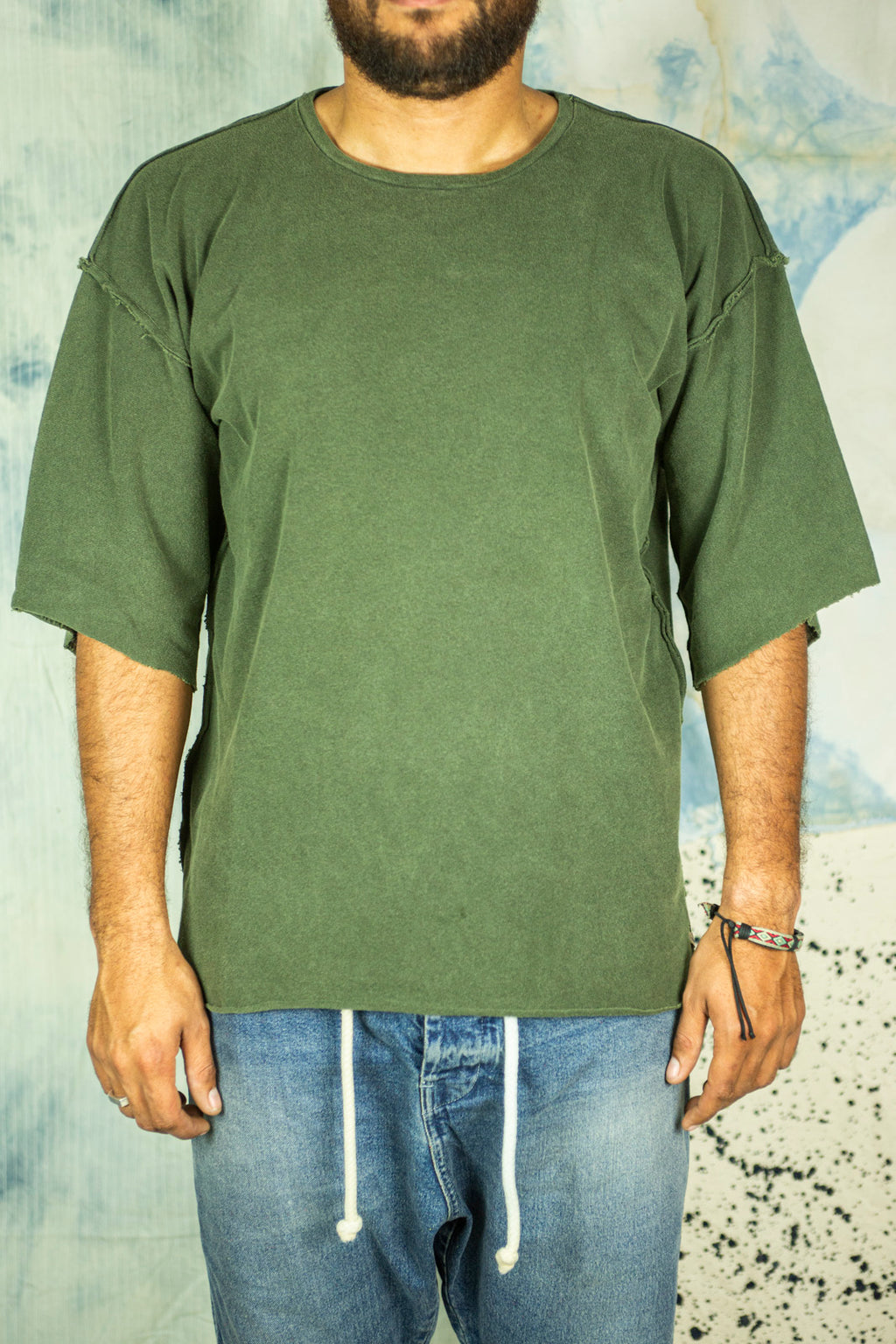 Samurai Tee in Green Army