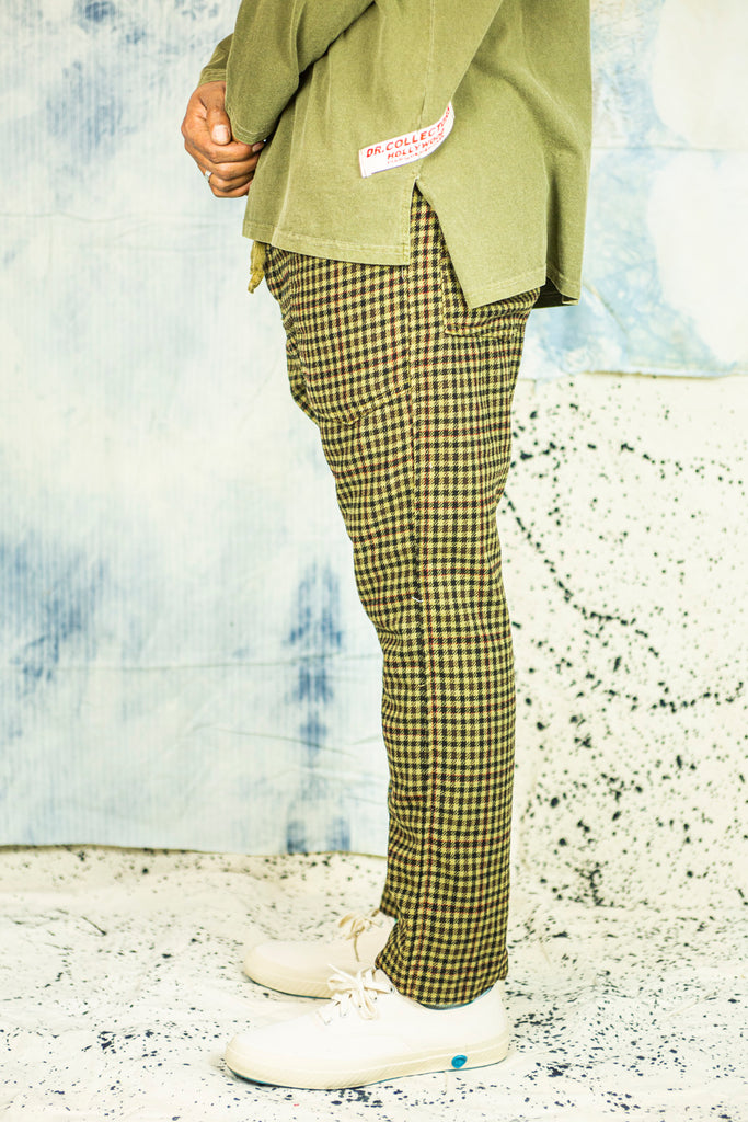P23 Gingham Wool Pants in Desert