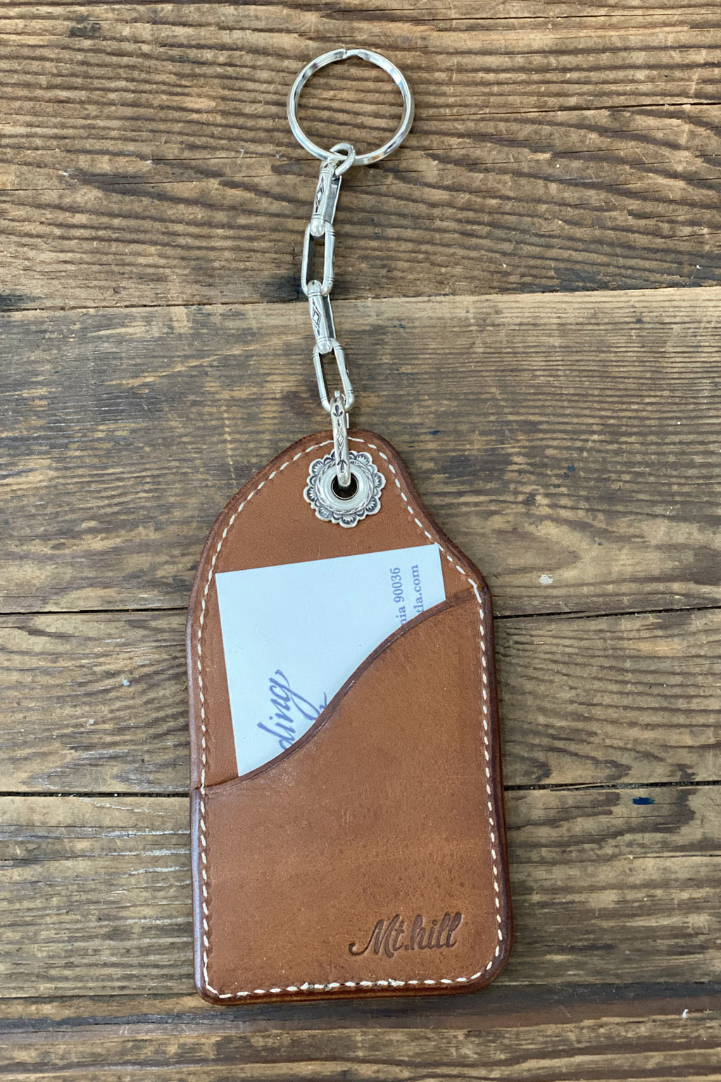 Mt. Hill Leather Keychain/Cardholder in Tan