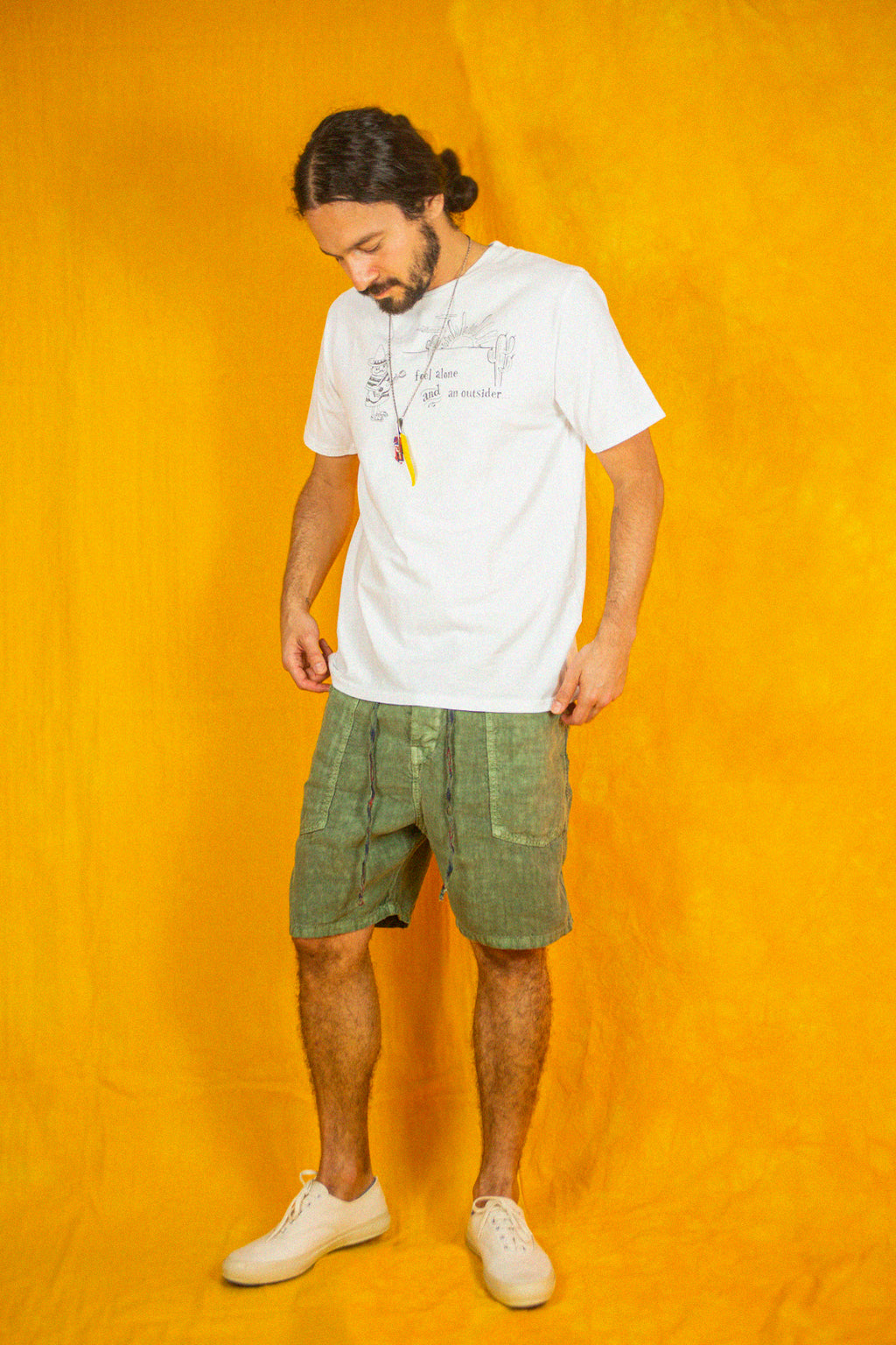 P35 Linen Venice Shorts in Avocado
