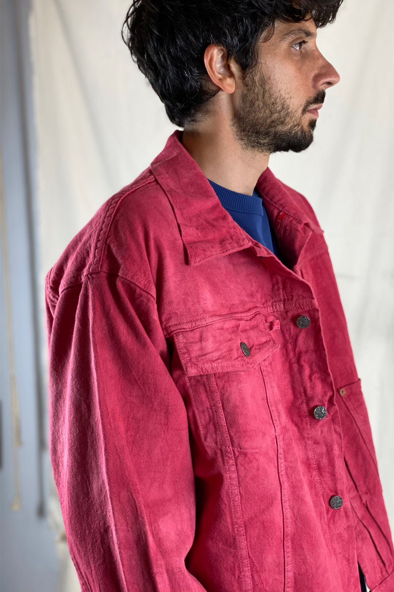 2020 Denim Jacket in Cloud Strawberry