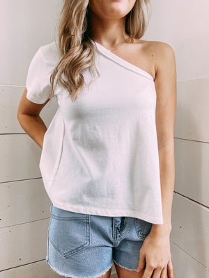 Better Days One Shoulder Blouse - ivory