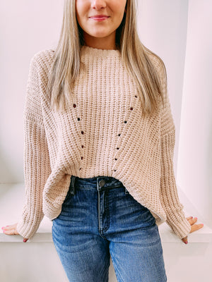 Wild For You Chenille Sweater - ivory