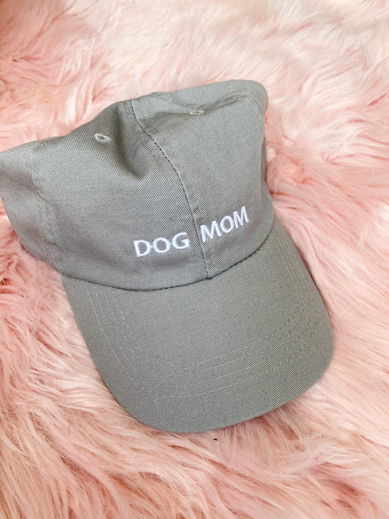 Dog Mom Hat - grey