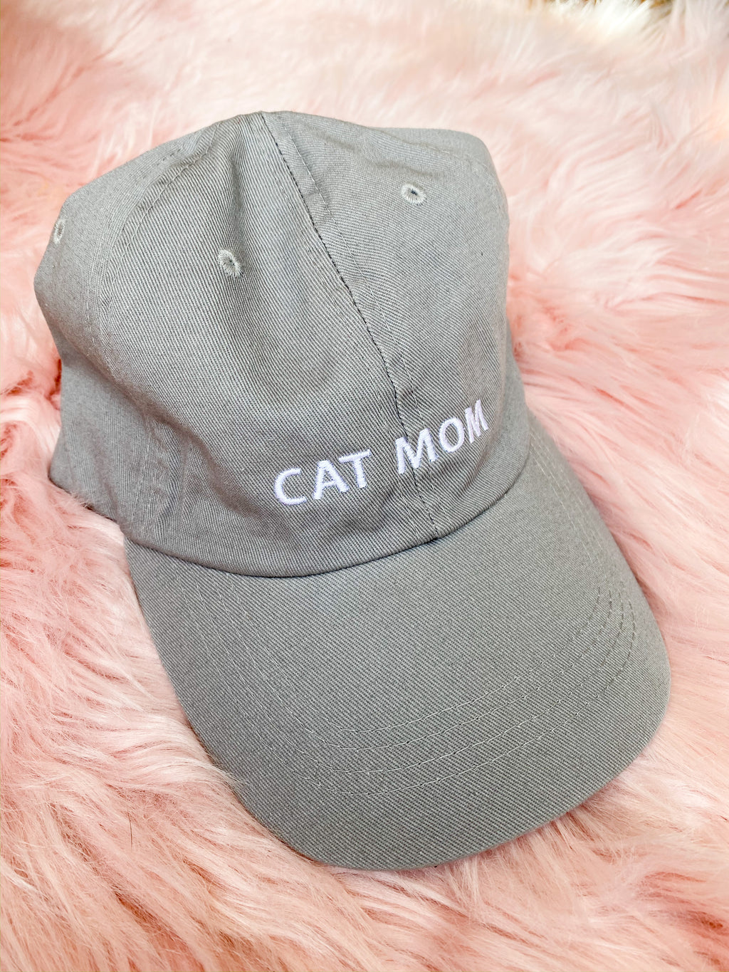 Cat Mom Hat - grey