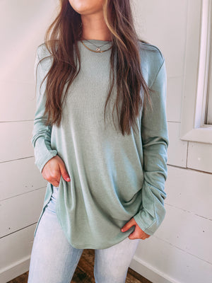 Weekend Plans Lightweight Tunic - sage