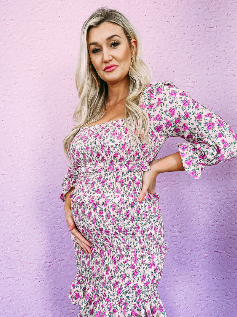 Hang Around Tie Dye Top - pink