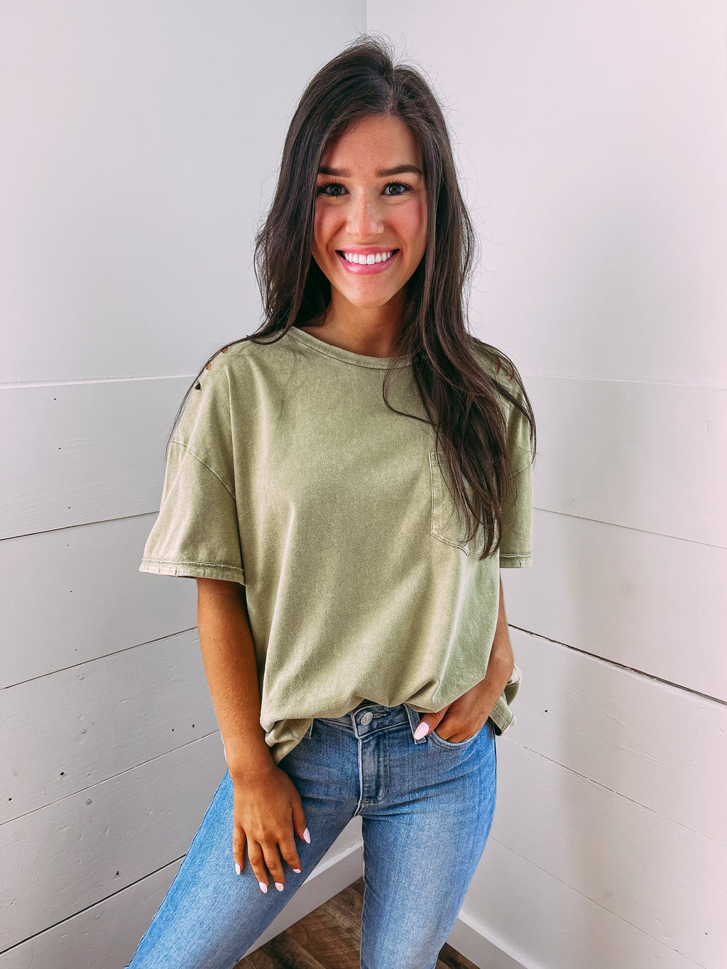 Eyes on You Dolman Leo Top