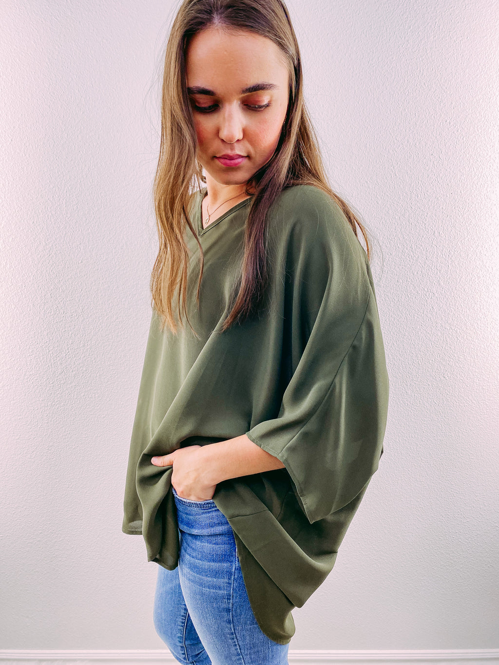 Racheal Oversized Blouse - olive