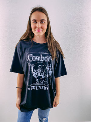 Cowboy Country Graphic Tee - black