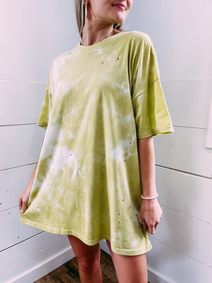 Journey Tie Dye Tee Dress - green
