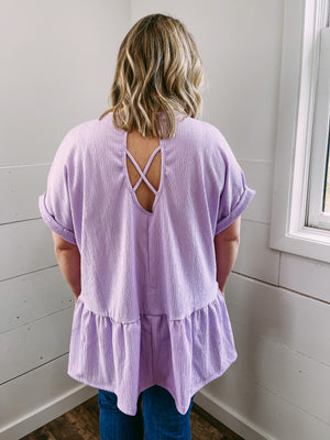 PLUS Got a Crush Blouse - lilac