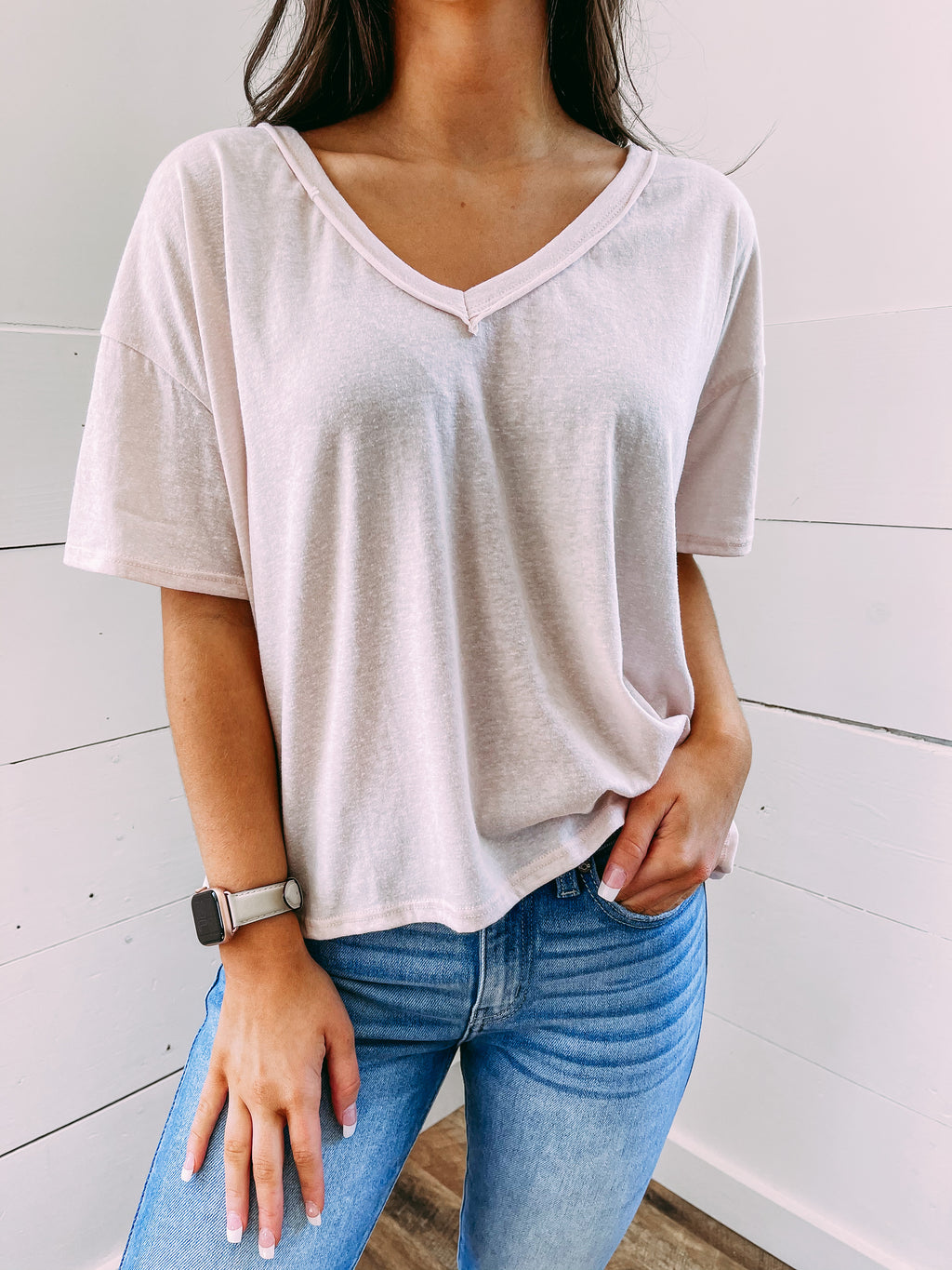 Cool Girl Basic Tee - blush
