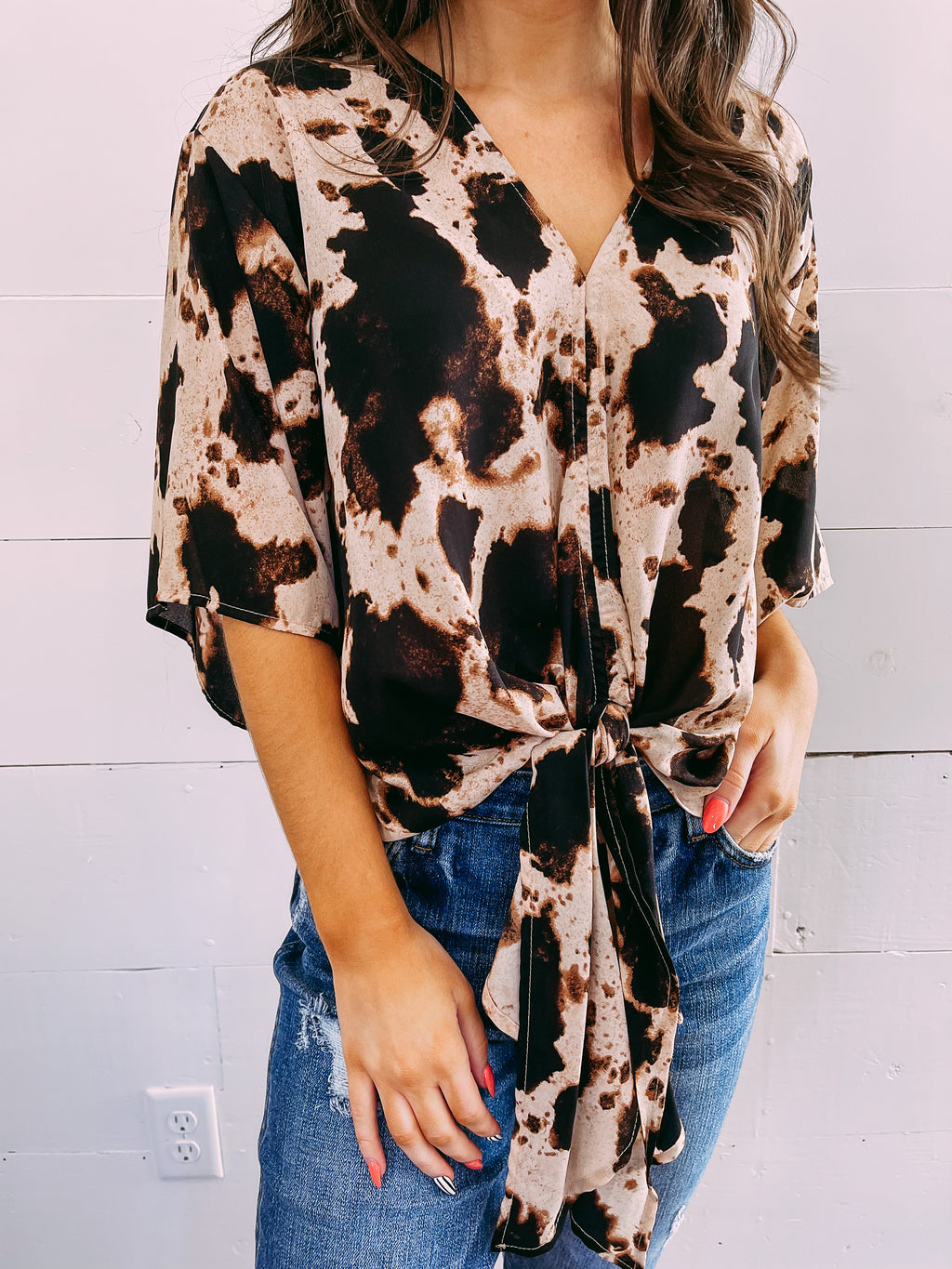 Kore Leopard Fleece Cardi - heather
