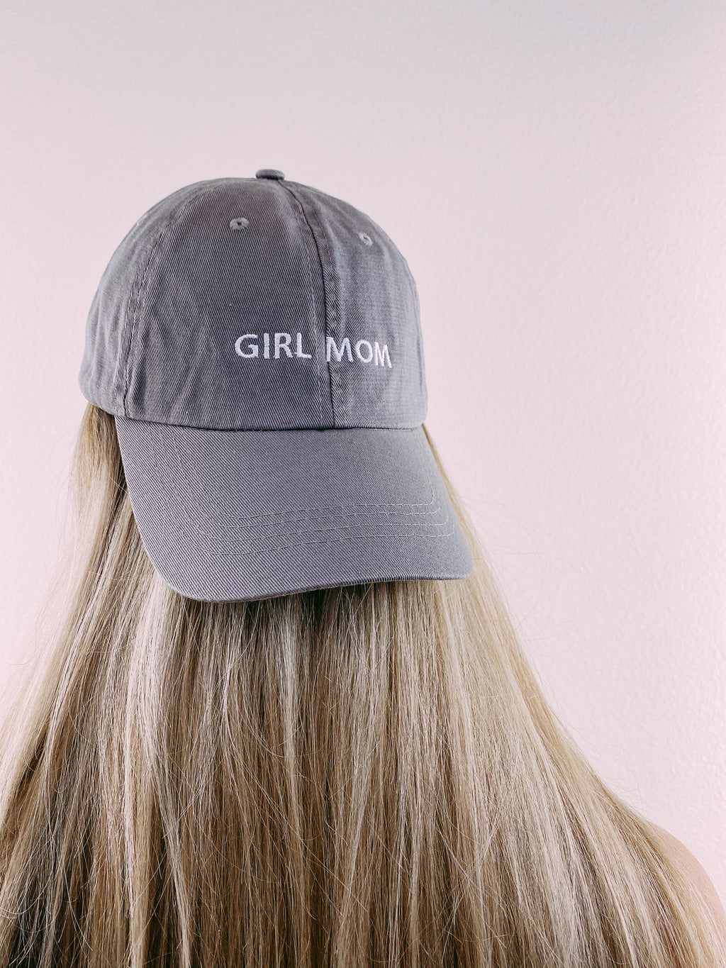 Girl Mom Hat - grey