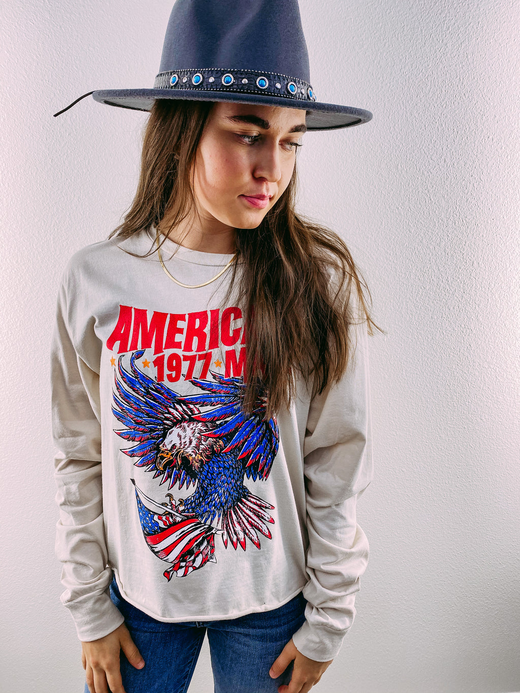 American Made Crop Graphic Tee
