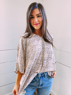 Racheal Oversized Blouse - pearl/olive