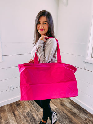 The Weekender Tote in Pink