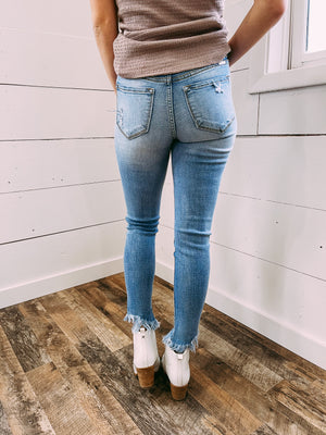 Worldwide High Rise Ankle Skinny