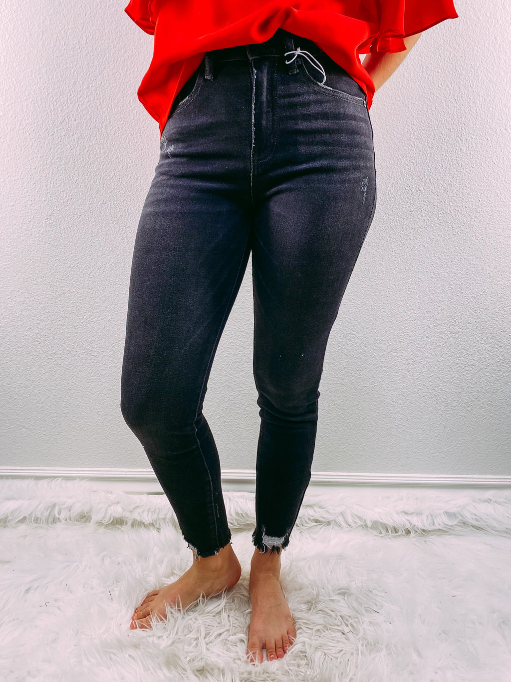 KanCan: Gemma High Rise Denim - grey