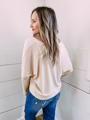 Day Date Crop Sweater - sand