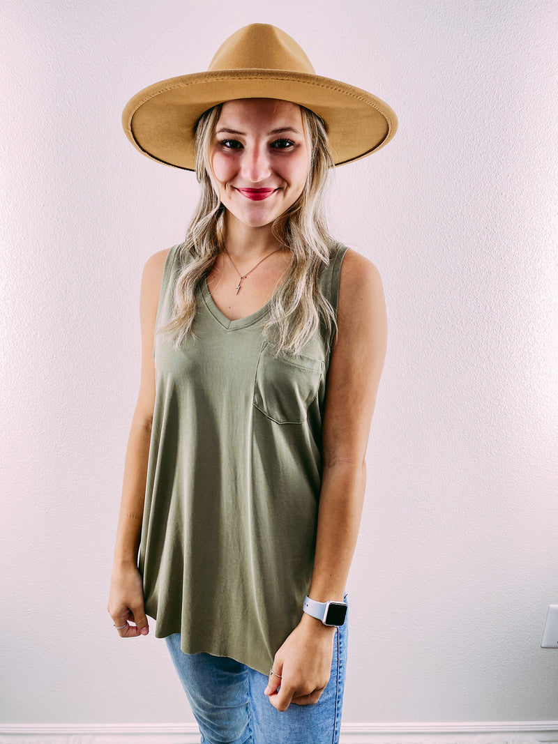 Esther basic tank - olive