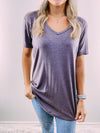 Megan Basic Tee - driftwood grey