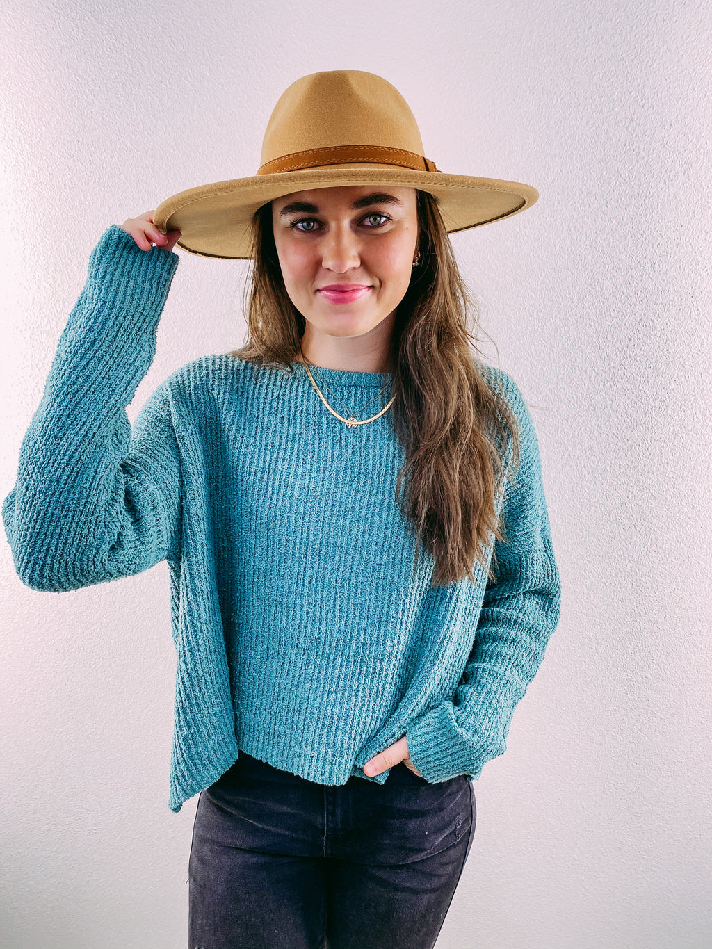 Cabin Fever Cozy Sweater - moss