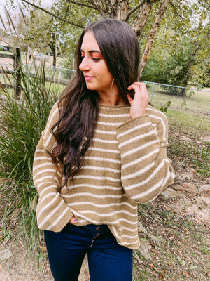 Laura Stripe Sweater - sand