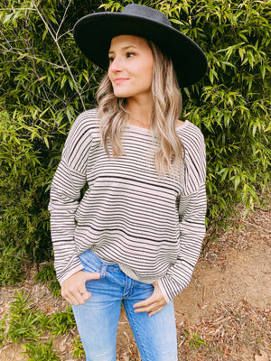 Bow Down Stripe Sweater