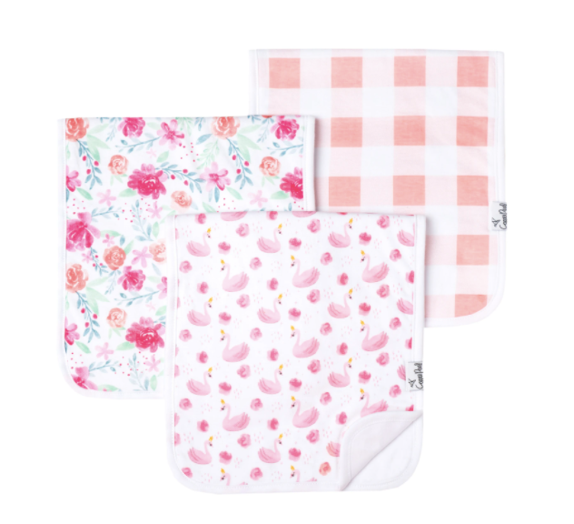 Copper Pearl: Burp Cloth Set - june
