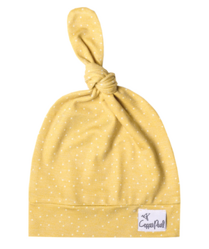 Copper Pearl: Top Knot Hat - marigold