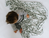 Copper Pearl: Swaddle - evergreen