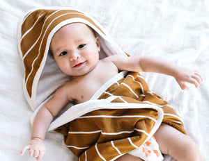 Copper Pearl: Hooded Towel - camel