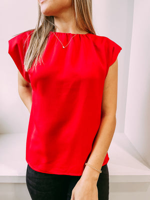 Lose Yourself Padded Blouse - red