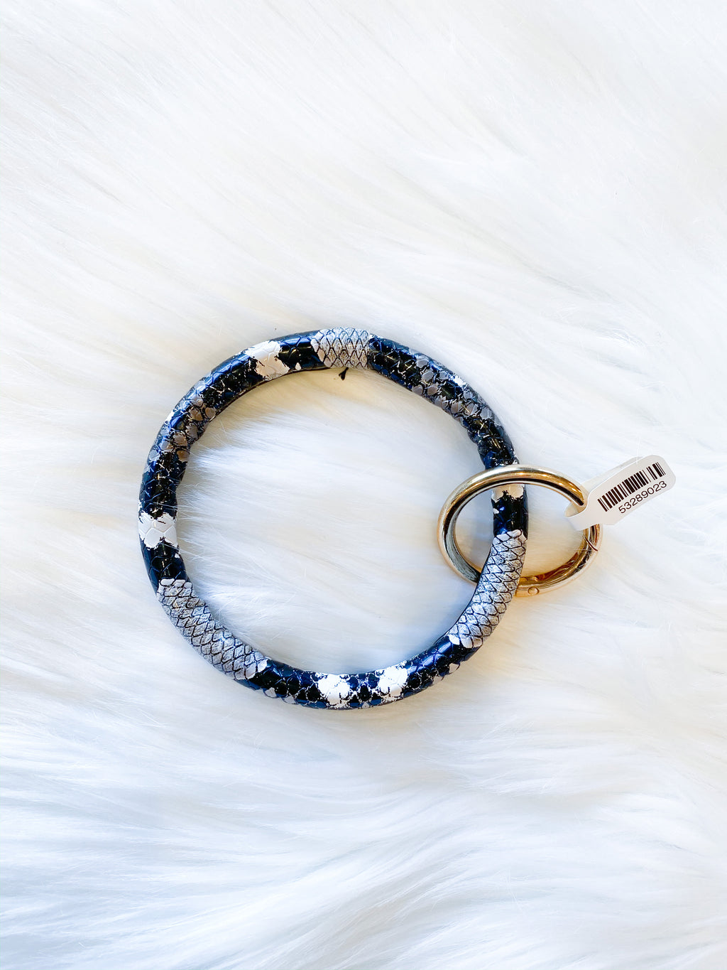 Circle Key Ring - black snake