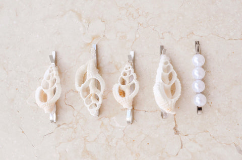 Mini Shell Hair Clips by Kim Legler