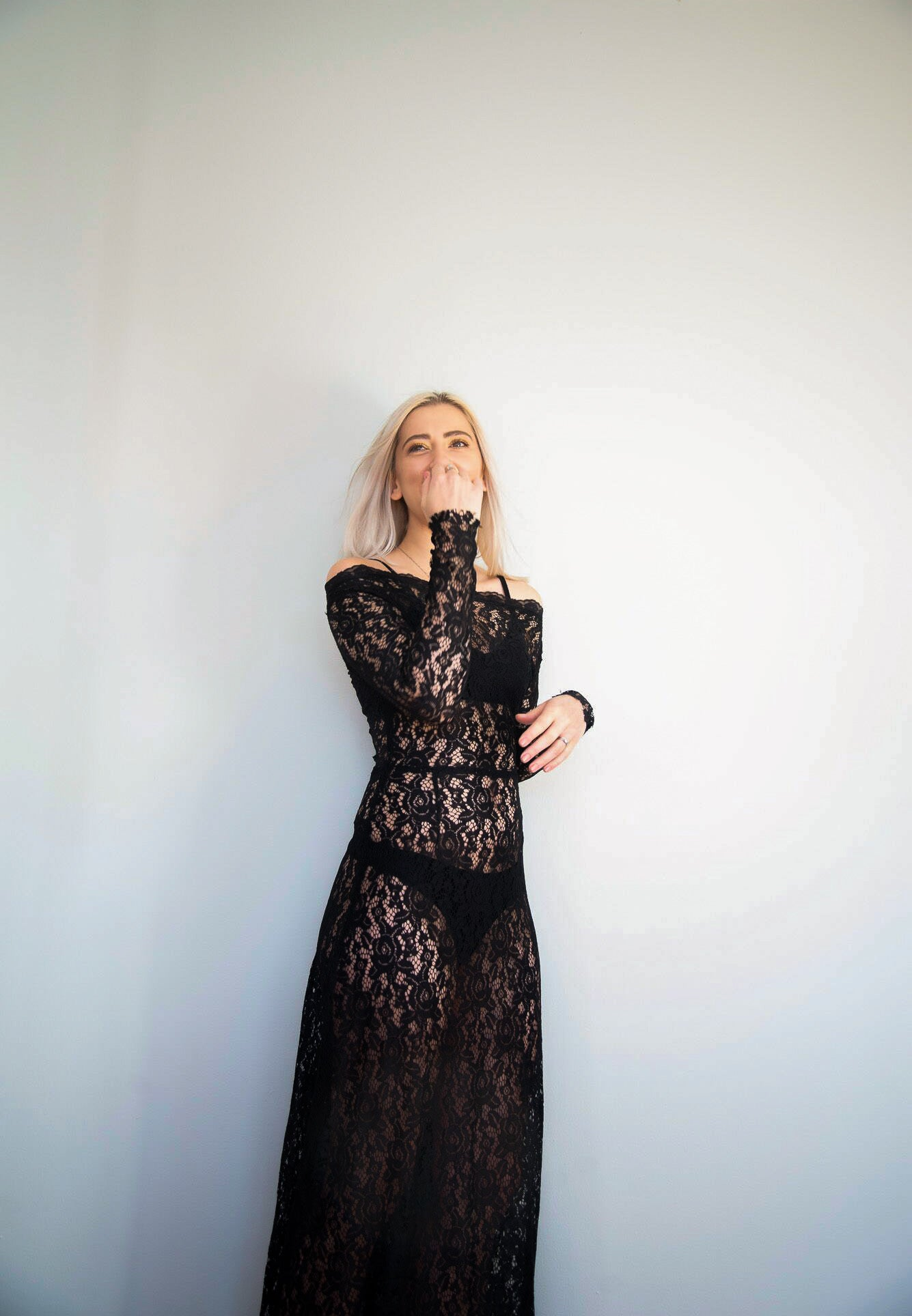 Kim Legler Black Lace Gown - Evening wear
