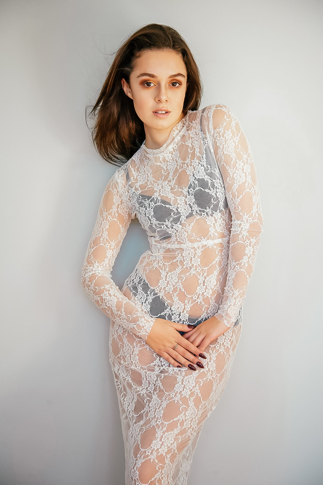 Samia Oz for Kim Legler - White Lace Dress