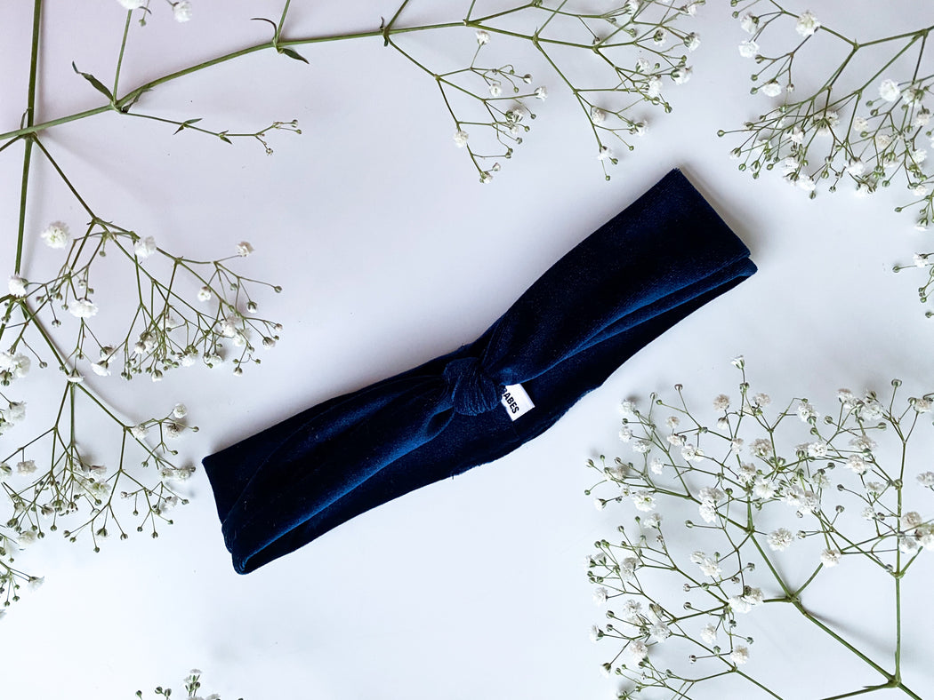 royal blue velvet headband