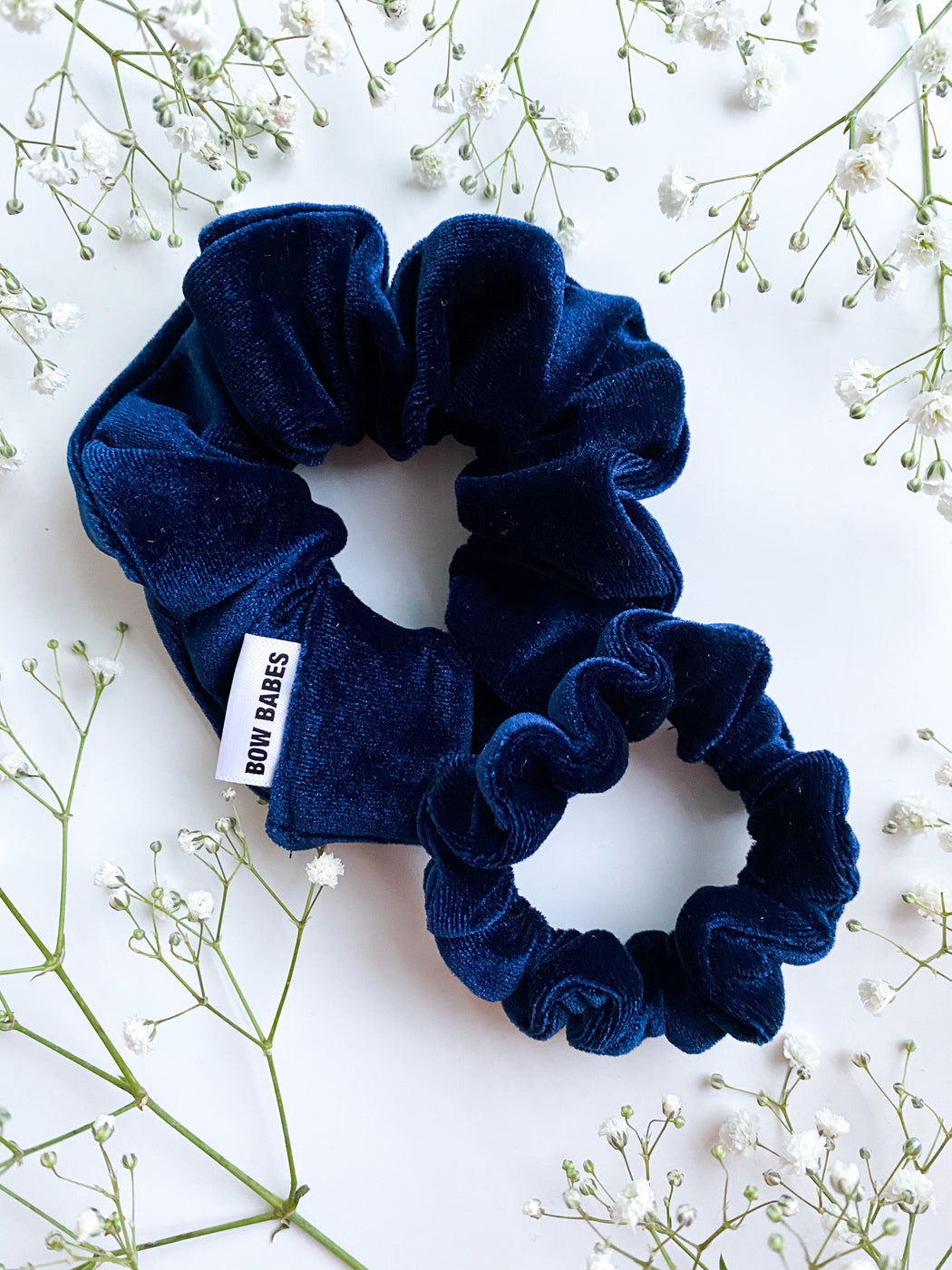 royal blue mini scrunchy