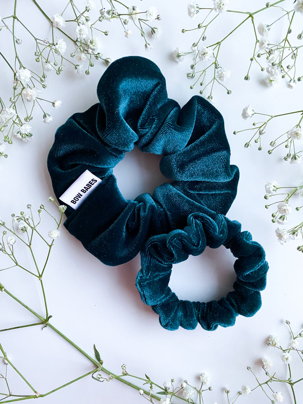 emerald green scrunchy set