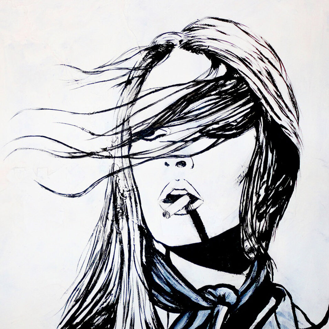 fashion illustration of famous bridgette bardot and terry o'neill fashion portrait