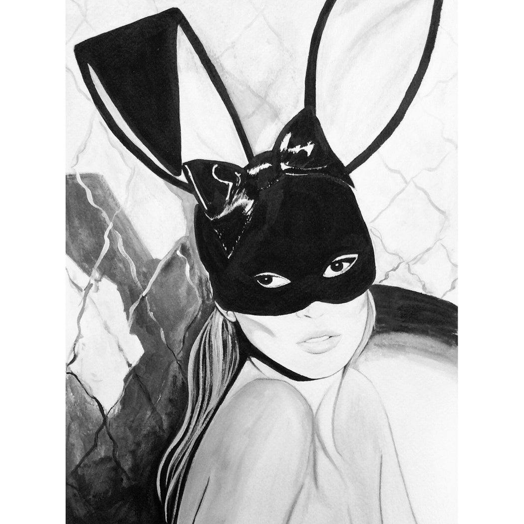 Black and White Kate Moss Painting - Mert Alas and Marcus Piggott's photoshoot for Playboy.