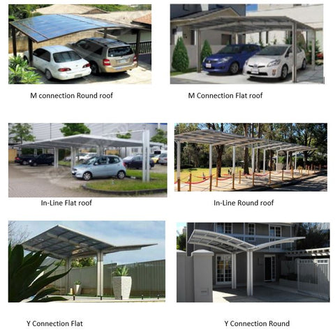 Configurations for Cantilever double carports - Car Covers and Shelter