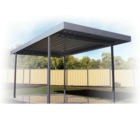 Skillion (flat roof) carport - The A to Z of carports for your home - Solar to Dutch Roof carports