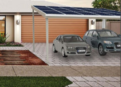 Double solar residential carport - Car Covers and Shelter
