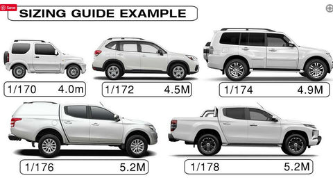 Stormguard SUV sizing Guide - Car Covers and Shelter